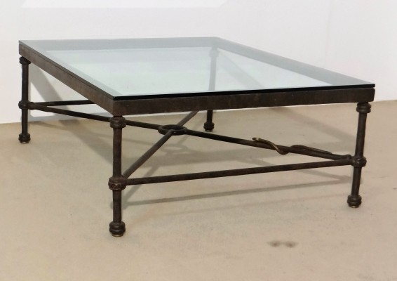 Bronze Coffee Table with Snake Detail by Christopher Chodoff