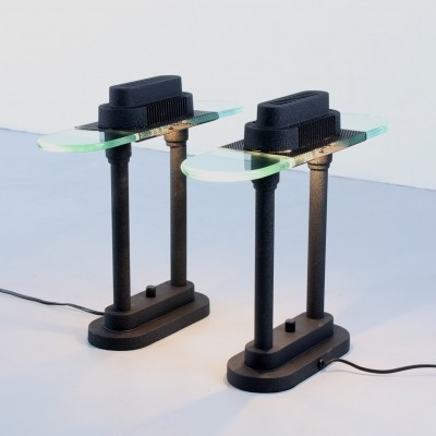 3 postmodern table lights, 1980s
