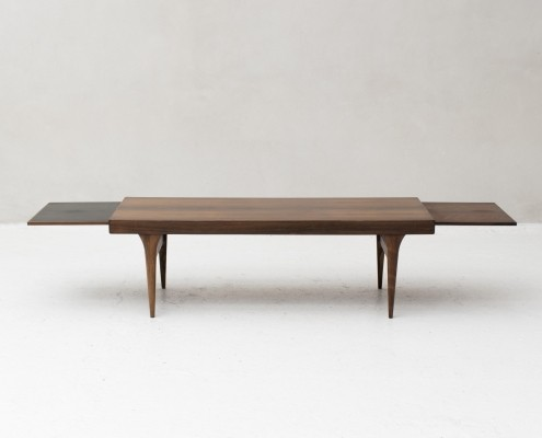 Coffee table with extendable platforms by Johannes Andersen for CFC Silkeborg
