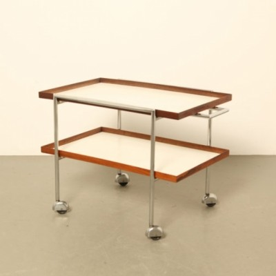 Serving trolley by Poul Nørreklit for E. Pedersen & Søn, 1960s