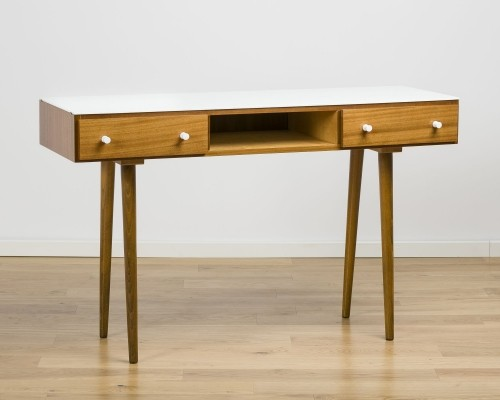 White opaxit console table, 60's