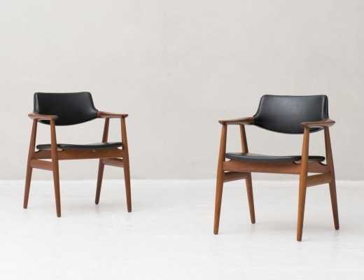2 x Model GM11 arm chair by Svend Aage Eriksen for Glostrup, 1950s