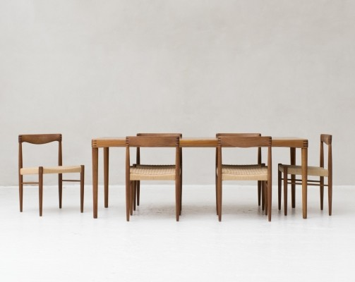 Dining set by Henry W. Klein for Bramin, Denmark 1960