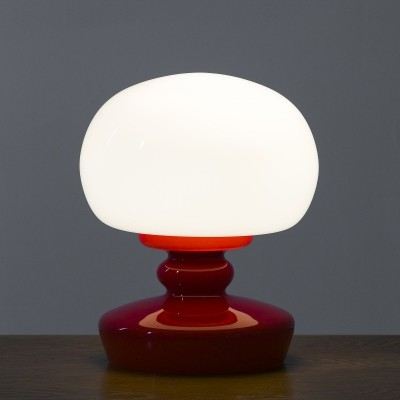 Opaline glass table lamp, 60's