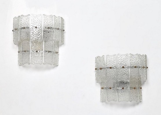 Pair of Murano Glass Wall Lamps