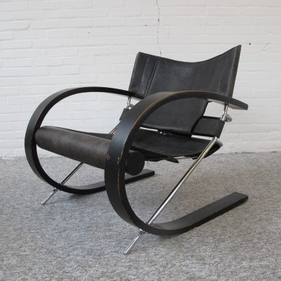 Rare lounge chair by Paul Tuttle for Strässle, 1977