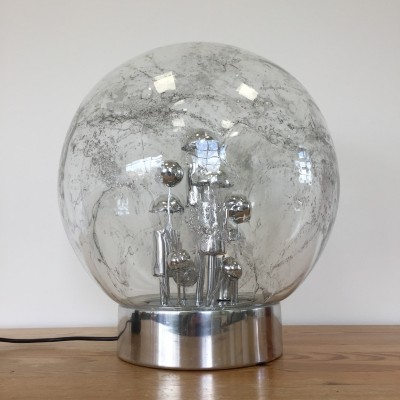 Space Age Sputnik Globe table lamp by Doria Leuchten