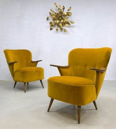 Pair of vintage arm chairs, 1950s