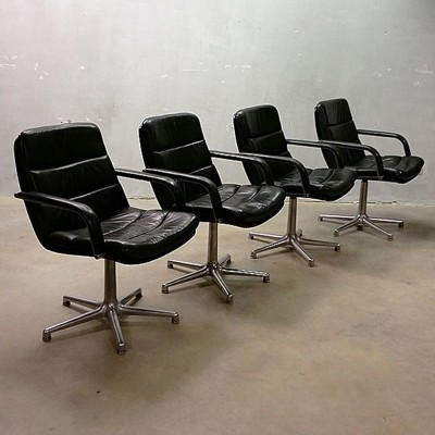 Set of 4 office chairs by Geoffrey Harcourt for Artifort, 1960s