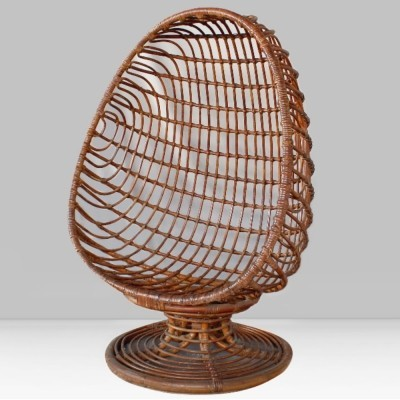 Rattan Egg chair, Italy 1960s