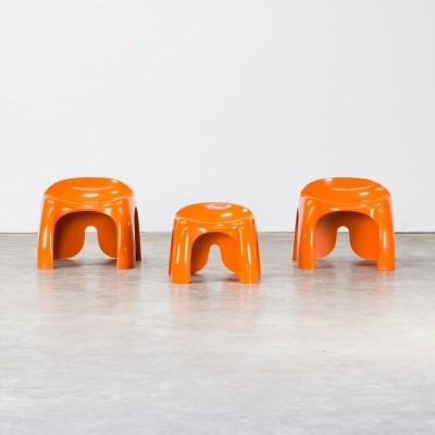Set of 3 Stacy Dukes 'Efebo' stools for Artemide
