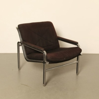 2 x Aluline lounge chair by André Vandenbeuck for Strässle, 1960s