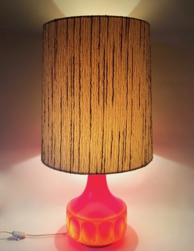 Beautiful 'Glashütte Limburg' table lamp with triple switching of the light, 60s