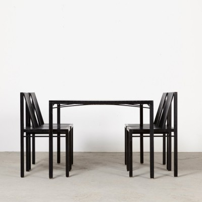 Ruud Jan Kokke dining set, 1980s