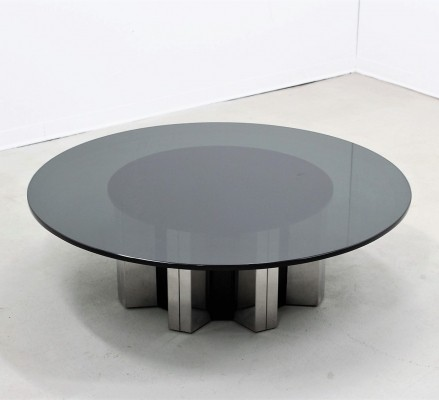 Large round coffee table by Willy Rizzo, 1970s