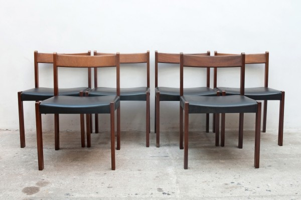 Set of Six Dining Chairs by Alfred Hendrickx for Belform, Belgium 1960s