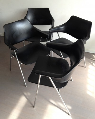 Set of 4 dinner chairs by Hanno von Gustedt for Thonet, 1960s