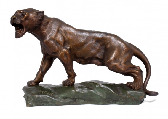 Bronze Tiger by Thomas Cartier, c1920
