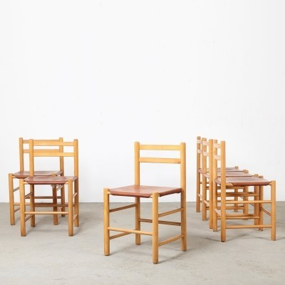 Set of 6 dinner chairs by Ate van Apeldoorn for Houtwerk Hattem, 1960s