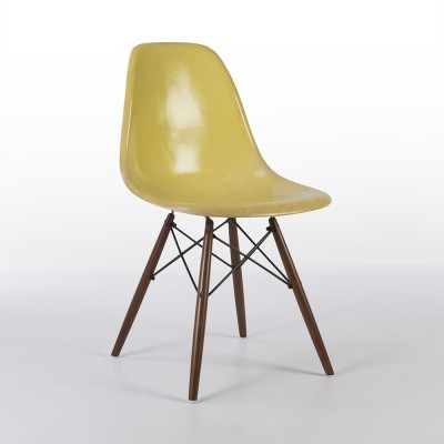 Original Herman Miller Lemon Yellow Eames DSW Dining Side Chair