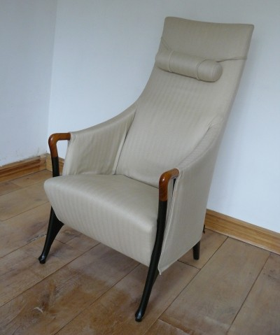 Bergere Progetti 63240 arm chair by Umberto Asnago for Giorgetti, 1980s