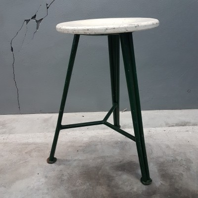 Vintage industrial stool from the 30s
