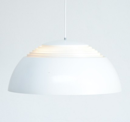 White AJ Royal Pendant Lamp by Arne Jacobsen for Louis Poulsen