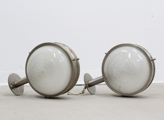 Pair of Gamma wall lamps by Sergio Mazza for Artemide, 1950s