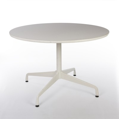 Original Herman Miller White Eames Round Contract Table