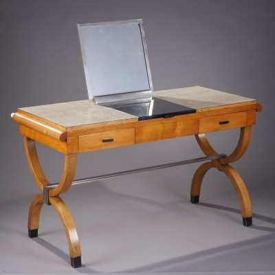 Mid-20th Century Walnut Dressing Table or Desk
