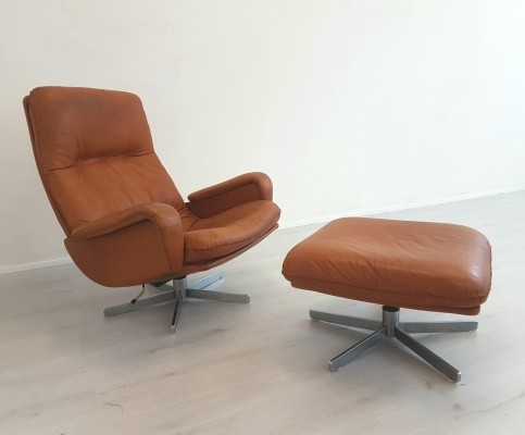 De Sede DS-231 loungechair with ottoman