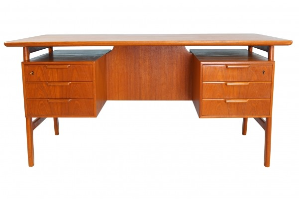 First Edition Gunni Omann 75 Desk in Teak