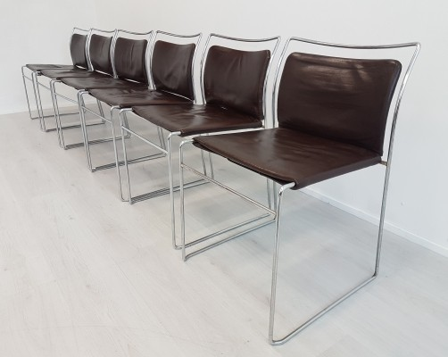 Set of 6 Gavina Tulu chairs by Kazuhide Takahama