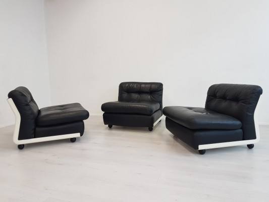 Set of three Amanta chairs by Mario Bellini for CandB Italia