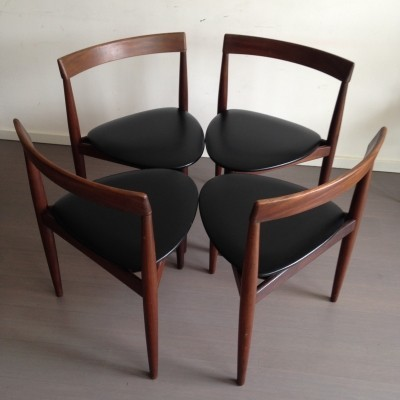Set of 4 dinner chairs by Hans Olsen for Frem Røjle, 1960s