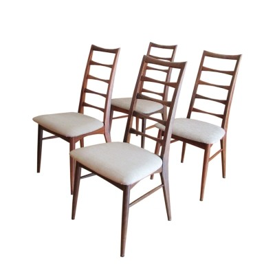 Set of 4 Lis dining chairs by Niels Koefoed, 1950s