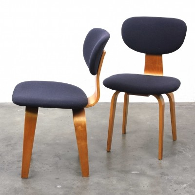 2 x SB03 dinner chair by Cees Braakman for Pastoe, 1950s