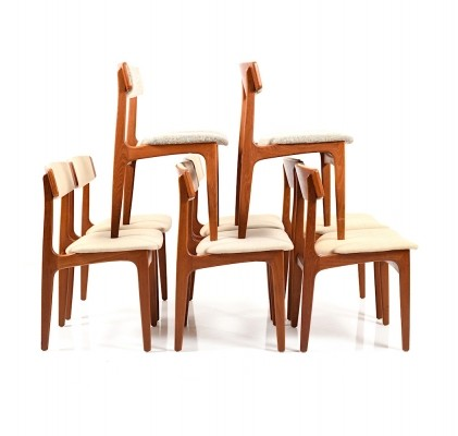 Set of 8 Dining Chairs by Thorsø Stolefabrik