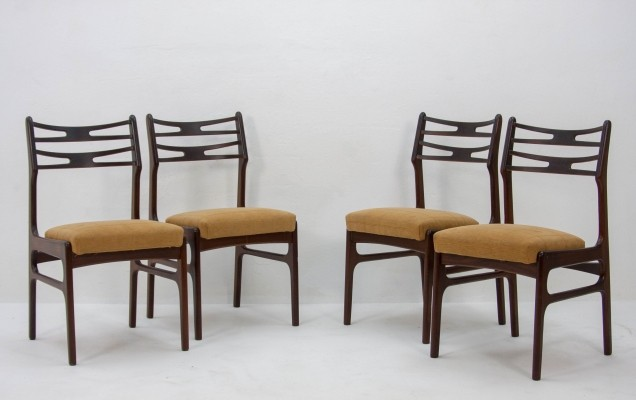 Set of 4 Johannes Andersen teak diningchairs