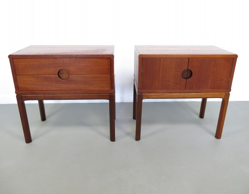 Pair of Nightstands by Aksel Kjersgaard for Odder Mobelfabrik