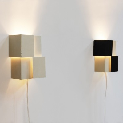 Pair of wall lamps by J. Hoogervorst for Anvia Almelo, 1960s