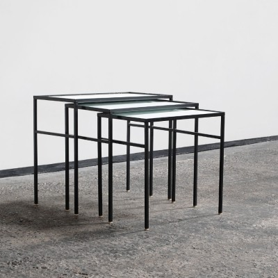 Set of 1960s nesting tables by Floris Fiedeldij for Artimeta