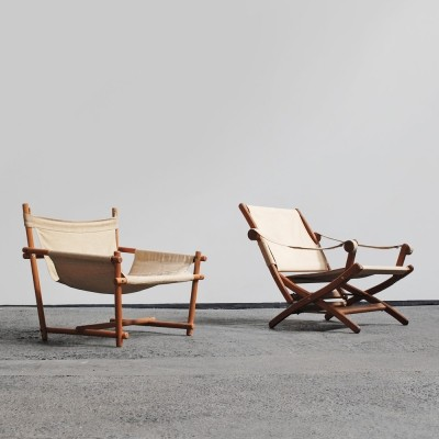 Scandinavian safari chairs, 1960s