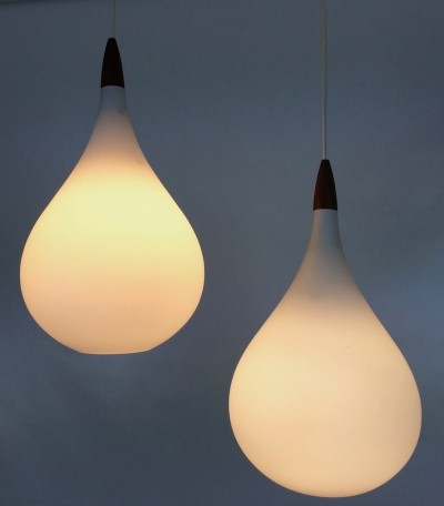 Drop hanging lamp by Uno & Östen Kristiansson for Luxus Vittsjö, 1950s