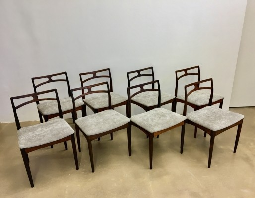 Set of 8 Model 94 dinner chairs by Johannes Andersen for Christian Linneberg, 1960s
