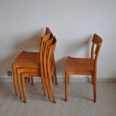 Portex stackable chairs by Peter Hvidt & Orla Mølgaard-Nielsen