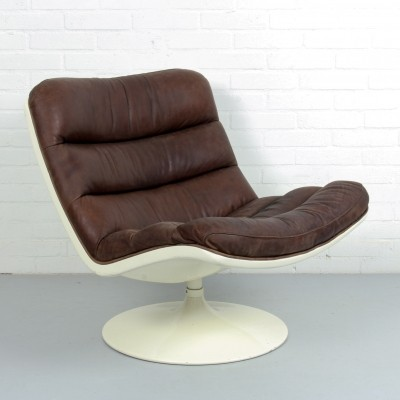 F976 lounge chair by Geoffrey Harcourt for Artifort in Leather