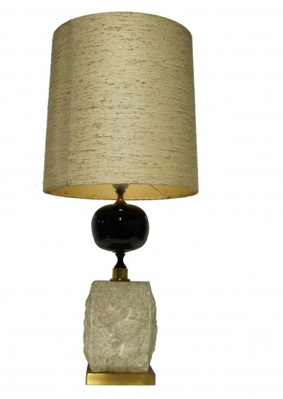 Vintage brass table lamp by Maison barbier, 1970s