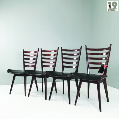 Four dining chairs by Cees Braakman for Pastoe
