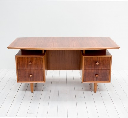 Rosewood Floating Desk by Christopher Heal for Heals, 1950s